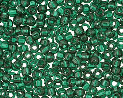 TOHO Transparent Green Emerald Round 15/0 Seed Bead