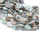 Arctic Terra Agate Twisted Oval 19-21x16-18mm