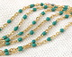 Gold (plated) Stainless Steel Turquoise Small Cable Chain
