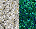 TOHO Glow In The Dark Crystal/Glow Green (w/ Silver Lining) Round 11/0 Seed Bead
