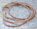 African Trade Beads Pink Opal Glass Seed Beads 1-3x3.5-4mm