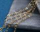 Hamilton Gold (plated) Half Flat Delicate Cable Chain 25' spool
