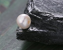 Pearly White Freshwater Semi-Round Pearl (large hole) 9-10mm