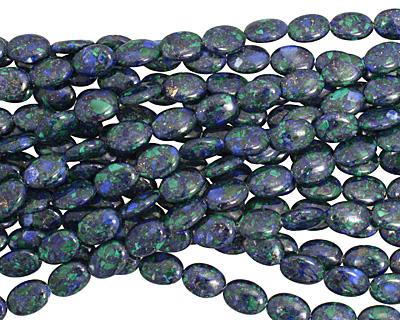 Azurite Malachite Flat Oval 14x10mm