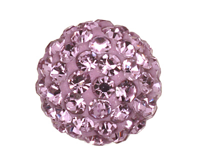 Lilac Pave Round 10mm (1.5mm hole)
