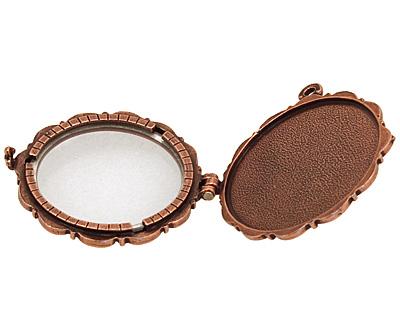 Nunn Design Antique Copper (plated) Large Scallop Locket 40mm
