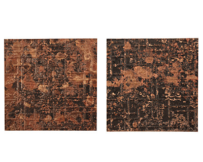 Lillypilly Mottled Bamboo Embossed Patina Copper Sheet 3