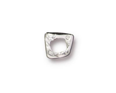 TierraCast Rhodium (plated) Link 6x5mm