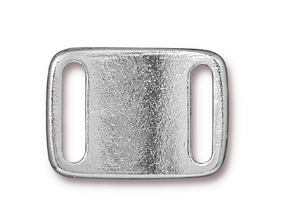 TierraCast Rhodium (plated) Frame Slide Link 24x17mm