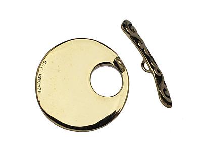 Saki Bronze Vine Toggle Clasp 34mm, 33mm bar