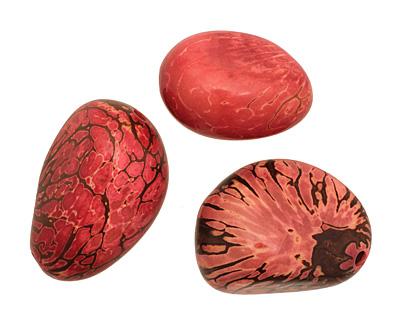 Tagua Nut Rhubarb Nugget 40-45x32-36mm
