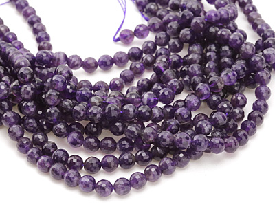 Dogtooth Amethyst (dark) Faceted Round 8mm