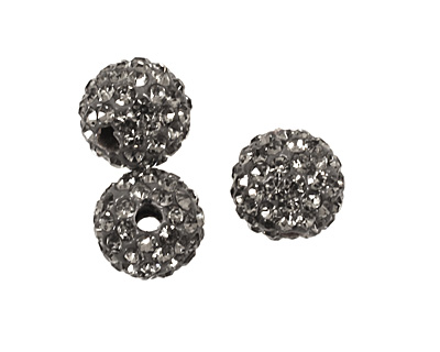 Black Diamond Pave Round 8mm (1.5mm hole)