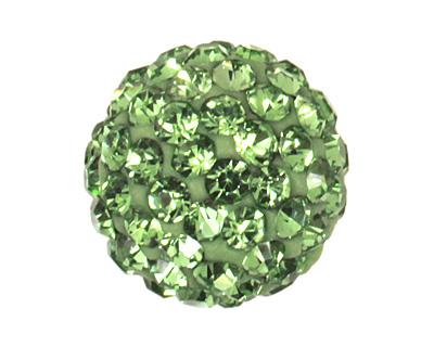 Peridot Pave Round 10mm (1.5mm hole)