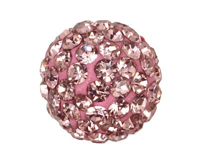 Light Rose Pave Round 10mm (1.5mm hole)