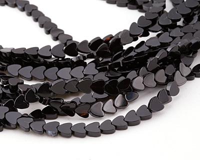 Black Sardonyx Heart 6mm