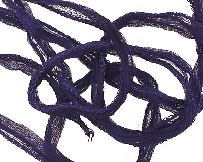 Navy Fairy Silk Ribbon 1/2
