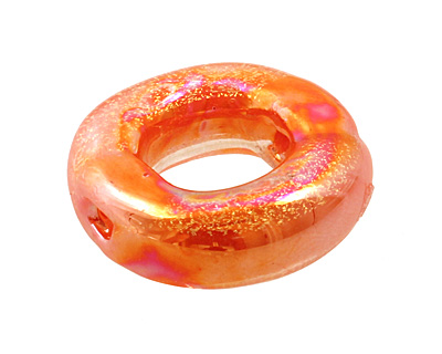 Unicorne Beads Orange Outburst Brim Ring 22mm