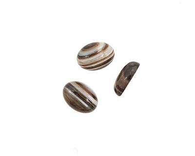Black Sardonyx Oval Cabochon 10x14mm