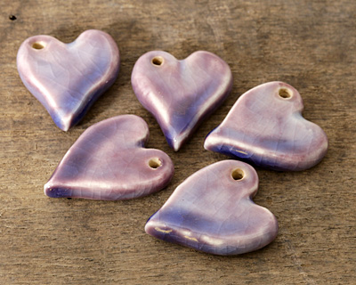 Gaea Ceramic Twilight True Love Heart Pendant 25x29mm