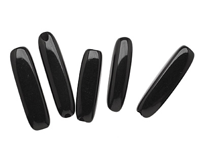 Tagua Nut Black Tube 20-30x5-8mm