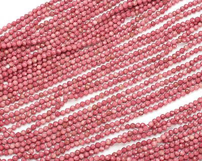 Rhodonite Faceted Round 4mm