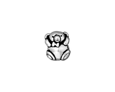 TierraCast Antique Silver (plated) Bear Euro 9x12mm