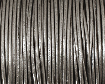 Gray (metallic) Round Leather Cord 1.5mm