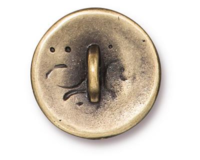 TierraCast Antique Brass (plated) Amor Round Button 16mm