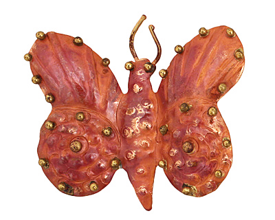 Patricia Healey Copper Butterfly Pendant 53x46mm