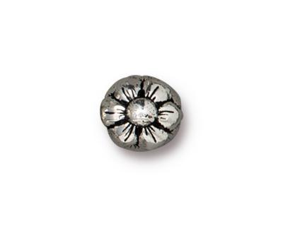 TierraCast Antique Silver (plated) Blossom Guru Bead 7.5x16mm