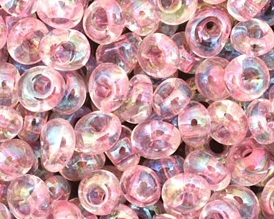 TOHO Transparent Rainbow Ballerina Pink Magatama 3mm Seed Bead