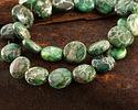 Emerald Impression Jasper Puff Coin 14mm