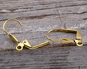 Gold (plated) Leverback Shell Earring w/ Open Loop 10x18mm