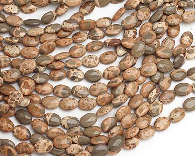 African Brown Rhyolite Flat Oval 18x13mm