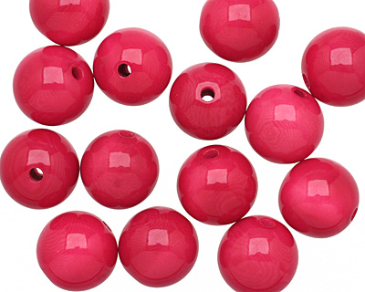 Tagua Nut Hot Pink Round 16mm