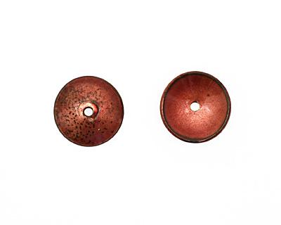 C-Koop Enameled Metal Ruby Red Disc 3-4x18-20mm