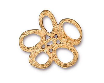 TierraCast Gold (plated) 5 Ring Link 25mm