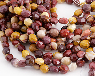 Mookaite Faceted Rice 10-15x10-12mm
