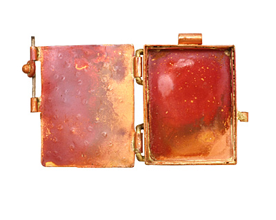 Patricia Healey Copper Cross Locket 40x44mm