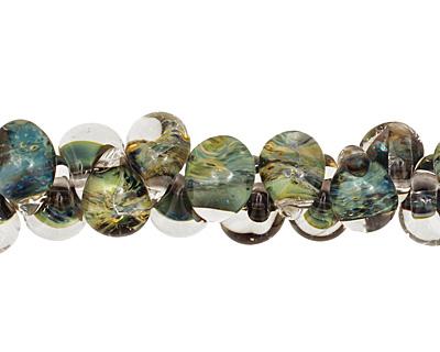 Unicorne Beads Olivegreen Teardrop 7x9mm