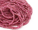 Pink Tourmaline Faceted Round 3mm