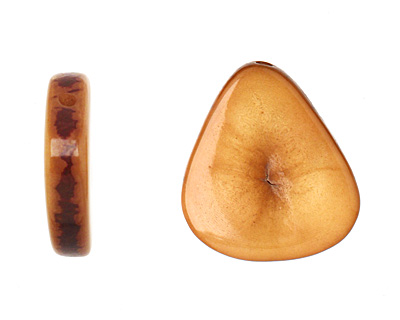 Tagua Nut Caramel Banana Chip 22-29x16-22mm