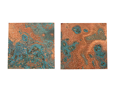 Lillypilly Azul Flower Garden Embossed Patina Copper Sheet 3