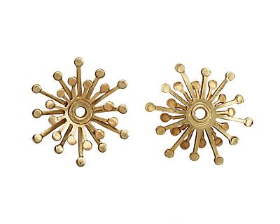 Brass Layered Snowflake 18mm