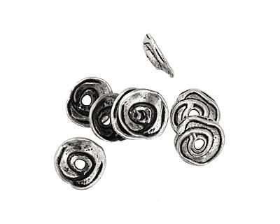 Pewter Spiral Bead Cap 5x20mm