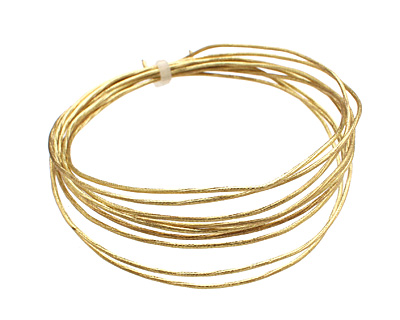 German Style Wire Non Tarnish Brass Twist Pattern Round 18 gauge, 1.5 meters