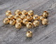 Gold (plated) Stardust Round Bead 6mm