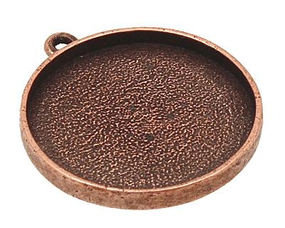 Nunn Design Antique Copper (plated) Grande Circle Bezel Pendant 38x34mm