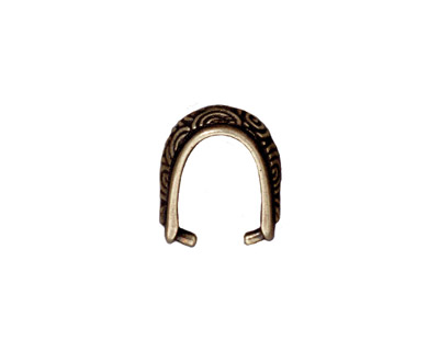 TierraCast Antique Brass (plated) Spiral Pinch Bail 7x15mm